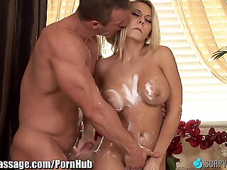 SoapyMassage cougar Madison Ivy Gets Soap Everywhere