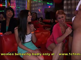 mischievous soiree With cockblowing Milf Wives and Girlfriends