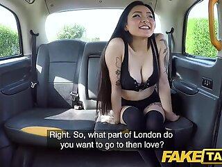 fake Taxi super-hot Japanese puny babe Rae Lil Black shows deepthroat skills