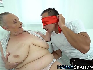Fat granny sucking dick